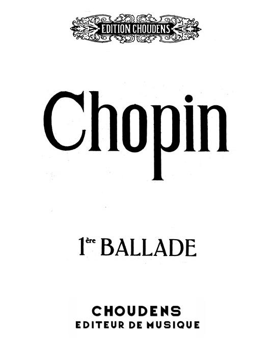 Ballade No. 1 Op. 23