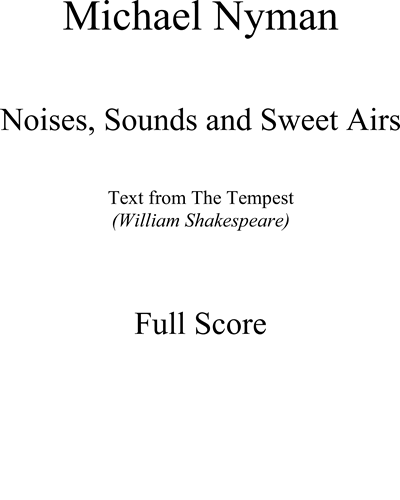 Noises, Sounds and Sweet Airs