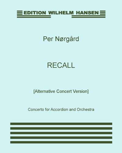 Recall [Alternative Concert Version]