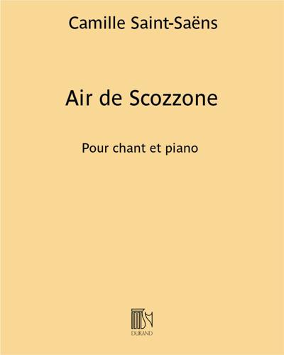 """Air de Scozzone (extrait n.8 de """"""""Ascanio"""")"""