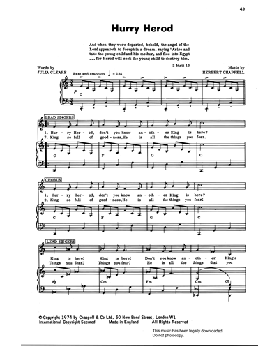 Hurry Herod (from 'Carols For Today')
