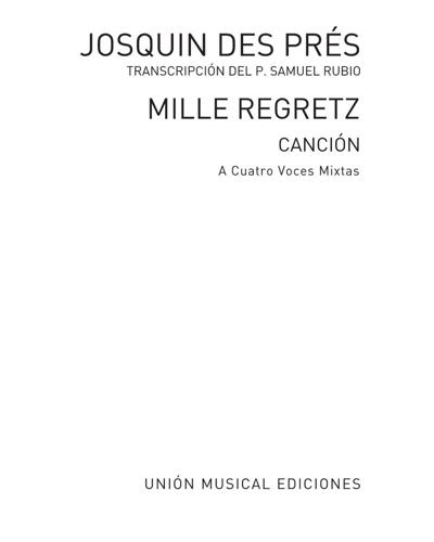 Mille Regretz (Canción)