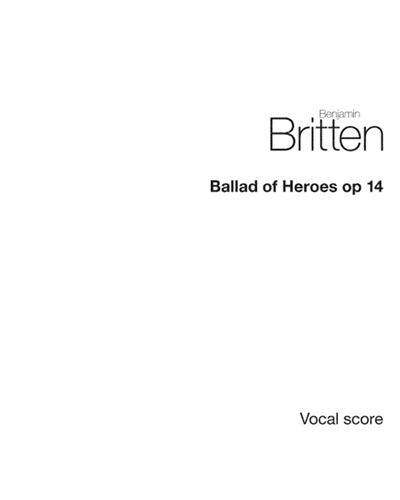 Ballad of Heroes, op. 14