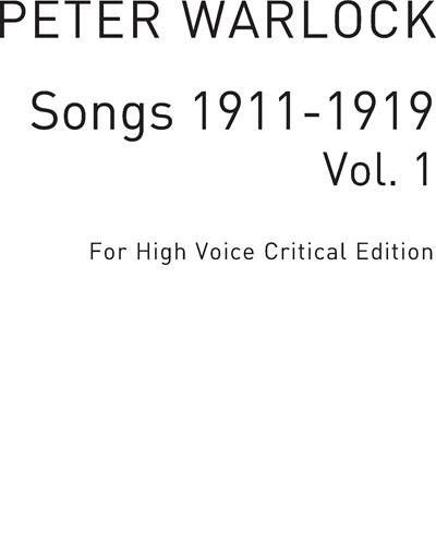 Songs 1911-1919 Vol. 1