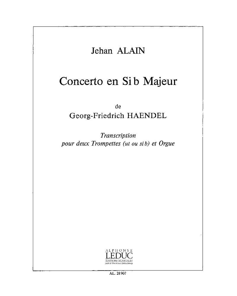 Concerto en Si bémol majeur, Op. 4 No. 2