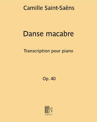Danse macabre - Transcription pour piano (H. Cramer)