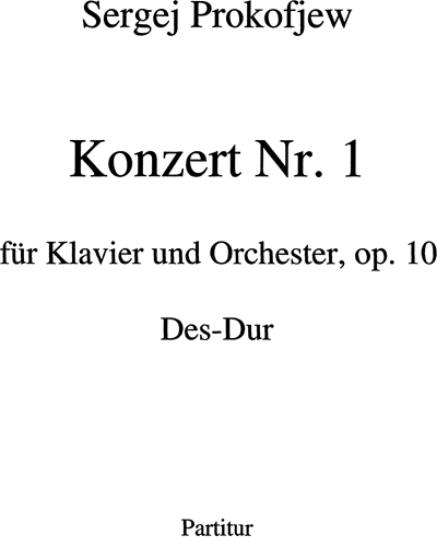 Konzert n. 1 Op. 10 Des-Dur