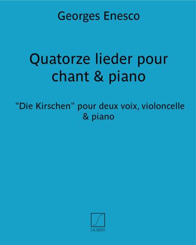 Quatorze lieder pour chant & piano