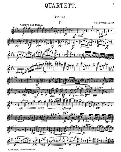 Piano Quartet in E flat, op. 87