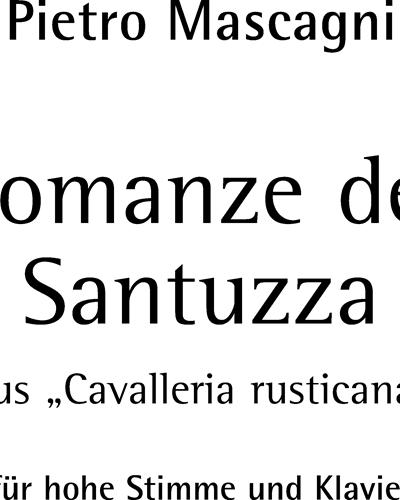 Romanze der Santuzza Als euer Sohn einst fortzog