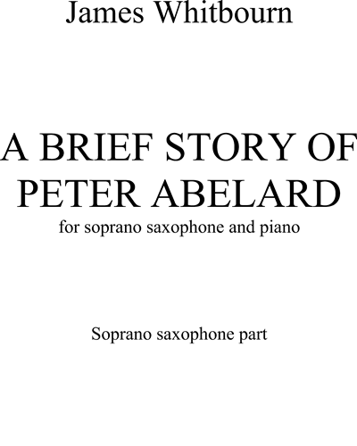 A Brief Story of Peter Abelard