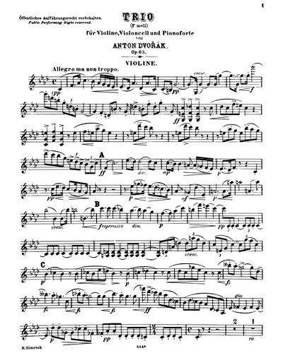 Piano Trio in F minor, op. 65
