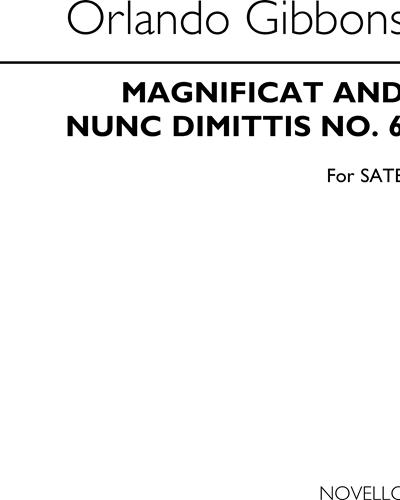 Magnificat and Nunc Dimittis No. 6 for SATB & Organ ad lib