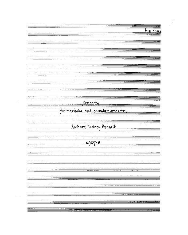 Marimba Concerto