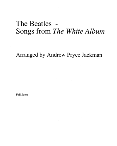 Songs from the White Album