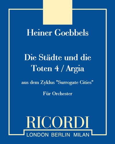 """Die Städte und die Toten 4 / Argia (aus dem Zyklus """"Surrogate Cities"""")"""