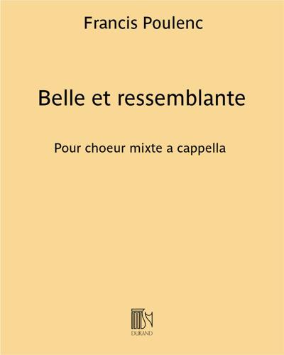 """Belle et ressemblante (extrait n. 5 de """"Sept Chansons"""")"""