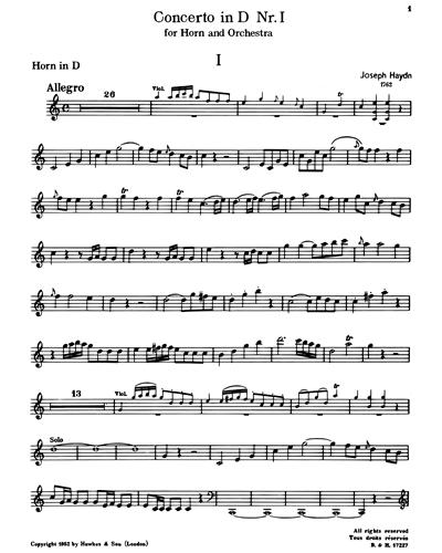 Horn Concerto No. 1