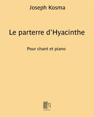 Le parterre d'Hyacinthe