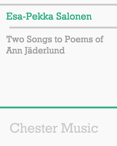 Two Songs to Poems of Ann Jäderlund