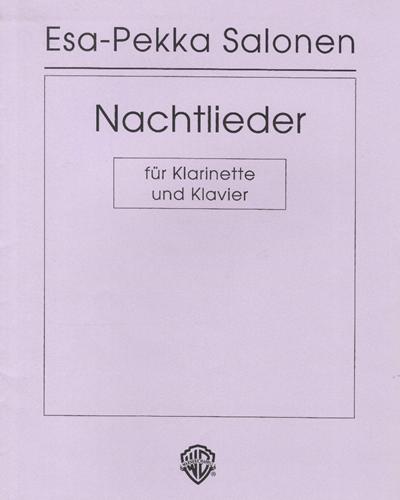 Nachtlieder (für Klarinette und Klavier)