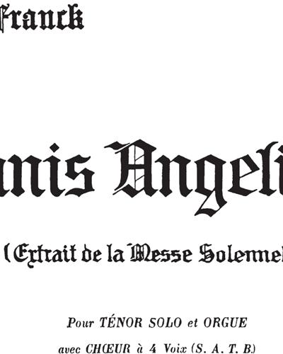 Panis Angelicus No. 15 (Extrait de la Messe Solennelle)
