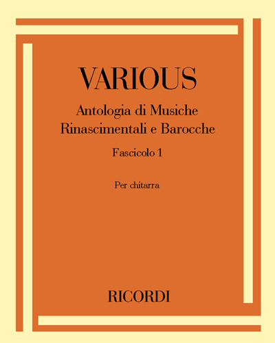 Antologia di Musiche Rinascimentali e Barocche Fascicolo 1