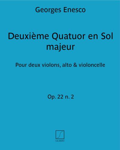 Deuxième Quatuor en Sol majeur Op. 22 n. 2