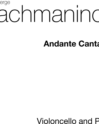 "Andante Cantabile (from ""Piano Concerto in F-sharp minor"")"