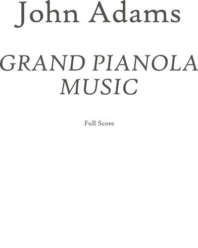 Grand Pianola Music