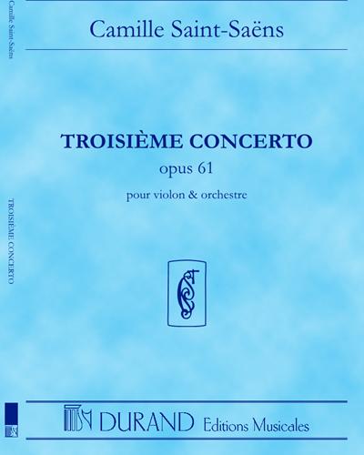 Concerto n. 3 Op. 61 - Pour violon et orchestre