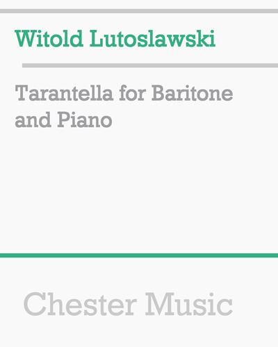 Tarantella for Baritone and Piano