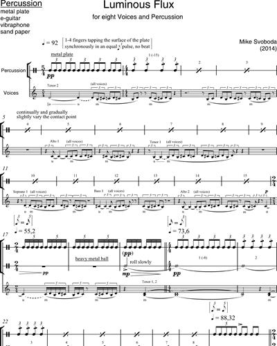 luminous flux percussion sheet music by mike svoboda | nkoda  nkoda
