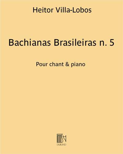 Bachianas Brasileiras n. 5