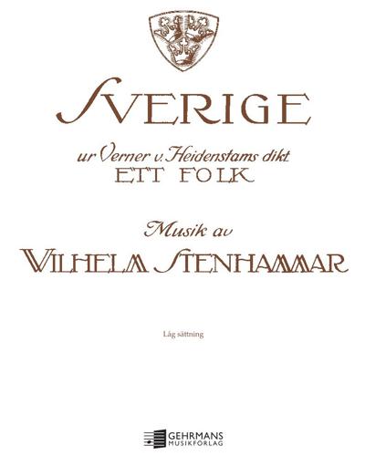 "Sweden (from the cantata ""Ett Folk"")"