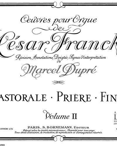 Œuvres complètes pour Orgue de César Franck Vol. 2