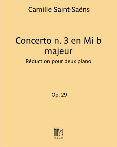 Concerto n. 3 en Mi b majeur Op. 29 - Réduction pour deux piano