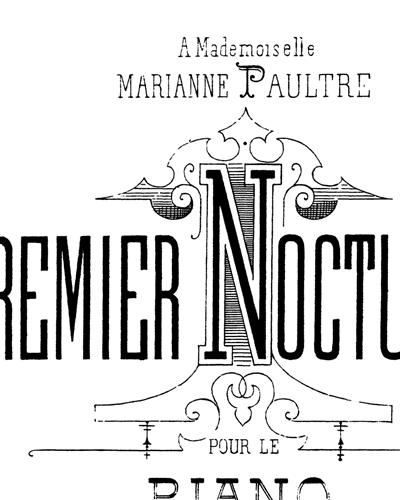 A Mademoiselle Marianne Paultre