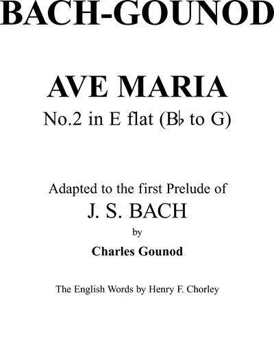 Ave Maria No. 2 in E-flat