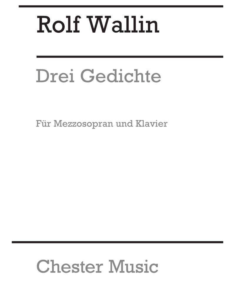 Drei Gedichte für Mezzosopran und Klavier