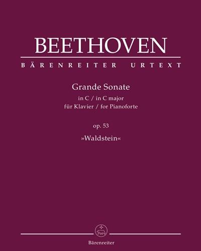 "Grande Sonate for Pianoforte C major op. 53 ""Waldstein"""