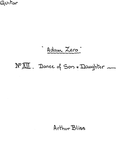Adam Zero: Ballet