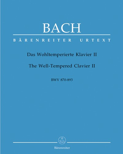 The Well-Tempered Clavier II BWV 870-893