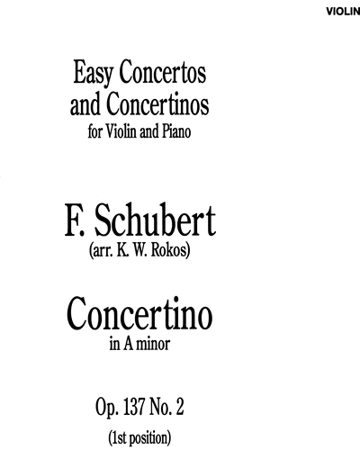 Concertino in A Minor For Violin And Piano Op. 137 No. 2