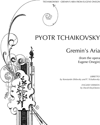 "Gremin's Aria (No. 20 from ""Eugene Onegin, op. 24"")"