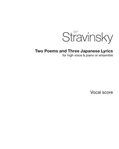 """Two Poems of Balmont"" & ""Three Japanese Lyrics"""