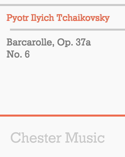 Barcarolle, Op. 37a No. 6