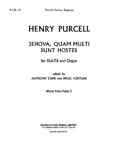 Jehova, quam multi sunt hostes