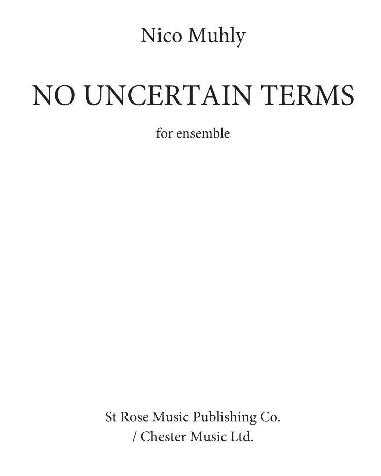 No Uncertain Terms