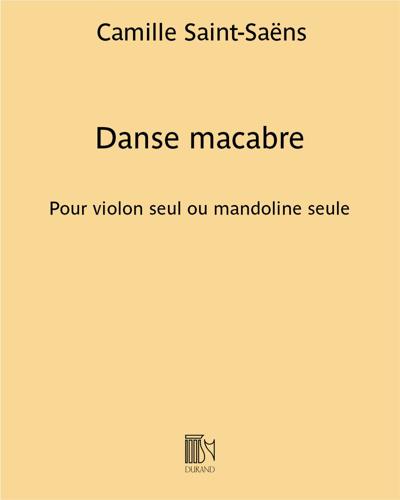 Danse macabre - Pour violon seul ou mandoline seule